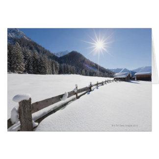 fresh prepared cross-country ski run in a card