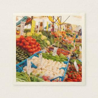 Fresh Produce at Farmers Market Paper Napkin