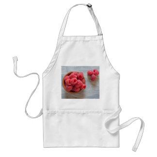 Fresh raspberries in a bowl standard apron