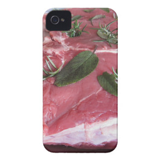 Fresh raw marbled meat steak iPhone 4 case