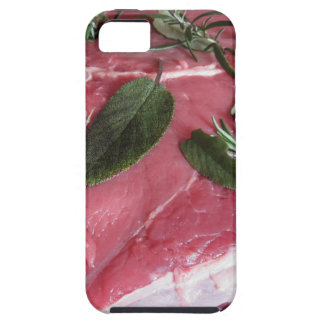 Fresh raw marbled meat steak iPhone 5 cover