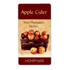 Fresh red apples in a basket apple cider