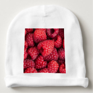 Fresh red raspberries baby beanie