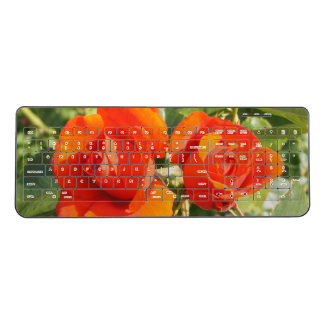 Fresh Red Roses Wireless Keyboard