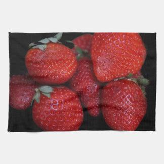 Fresh Red Strawberries Kitchen Towel