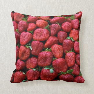 Fresh Red Strawberries Throw Pillow