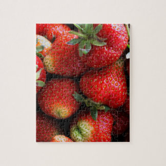 Fresh red strawberry fruits jigsaw puzzle
