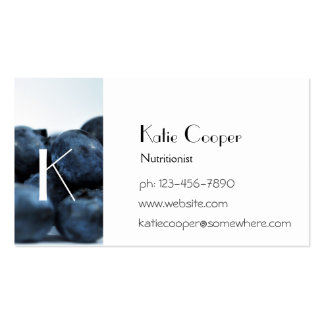 Fresh Ripe Blueberries Business Cards