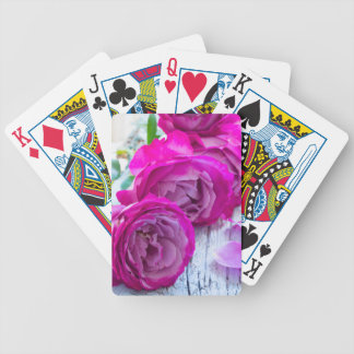 fresh roses bicycle playing cards