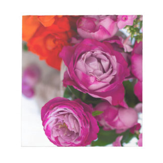 fresh roses notepad