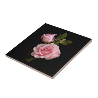 "Fresh Roses,Small(4.25"" x 4.25"")Ceramic Photo Tile"