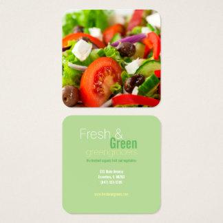 fresh salad greengrocers business card