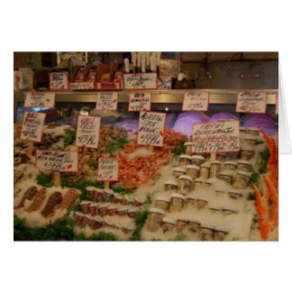 fresh seafood card