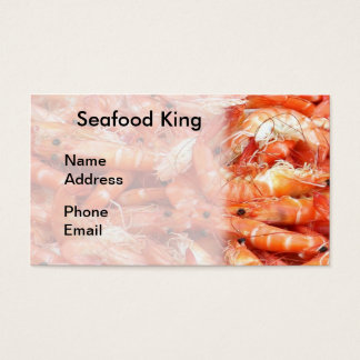 Fresh Shrimps or Prawn on Display Business Card
