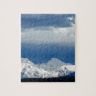 Fresh snow on the Kamnik Alps Jigsaw Puzzle