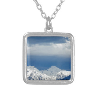Fresh snow on the Kamnik Alps Silver Plated Necklace