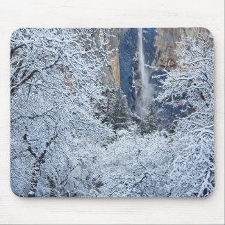 Fresh snowfall in the trees below Bridalveil Mouse Pad