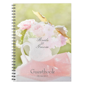 Fresh Spring Flower Bouquet Wedding guest book