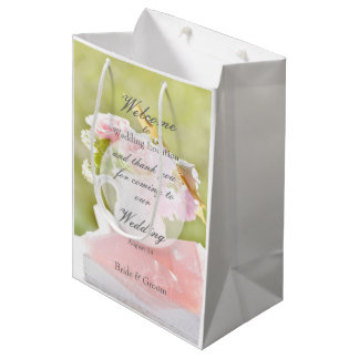 Fresh Spring Flower Bouquet Wedding Medium Gift Bag