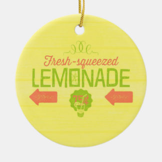 Fresh Squeezed Lemonade Ceramic Ornament