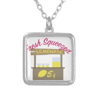 Fresh Squeezed Silver Plated Necklace