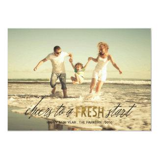 Fresh Start Happy New Year photo card