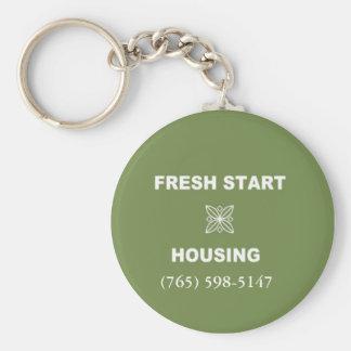 Fresh Start Housing Basic Round Button Keychain