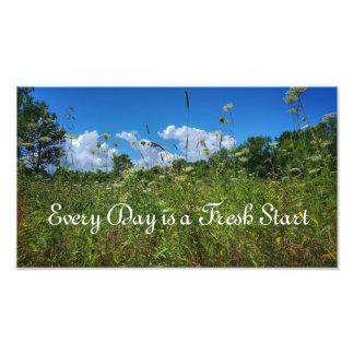 Fresh Start Quote Photographic Print
