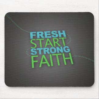 Fresh Start, Strong Faith Mousepad