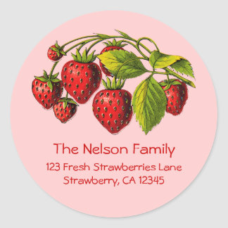 Fresh Strawberries Address Label