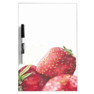 Fresh Strawberries Dry Erase White Board