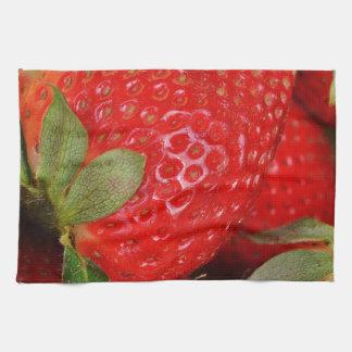 Fresh strawberries hand towel