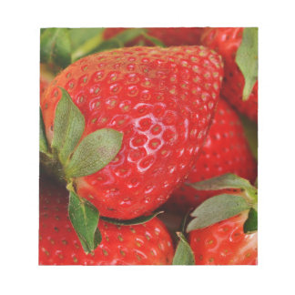 Fresh strawberries notepad