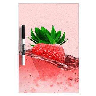 Fresh strawberry juice dry erase whiteboards