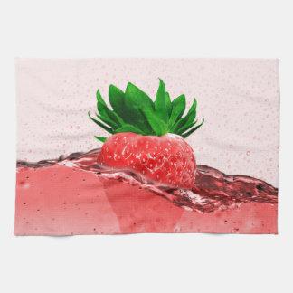 Fresh strawberry juice kitchen towel