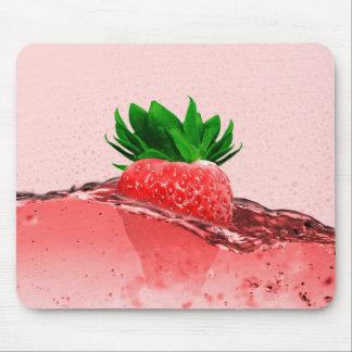 Fresh strawberry juice mouse pad