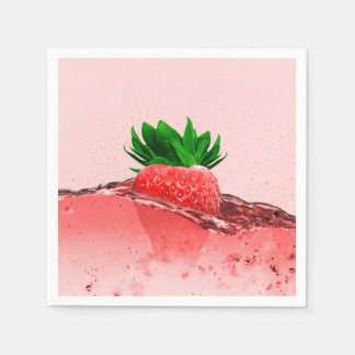 Fresh Strawberry Paper Napkin