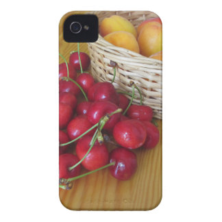 Fresh summer fruits on light wooden table Case-Mate iPhone 4 case