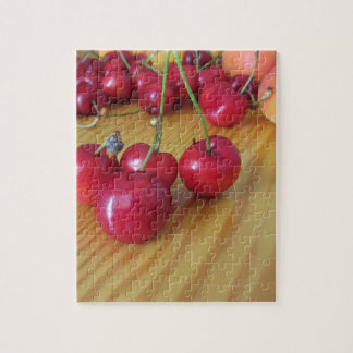 Fresh summer fruits on light wooden table jigsaw puzzle