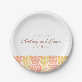 Fresh Summer Pineapple 7 Inch Paper Plate