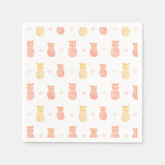 Fresh Summer Pineapple Paper Napkin