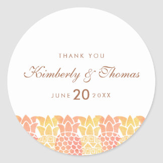 Fresh Summer Pineapple Wedding Favor Sticker