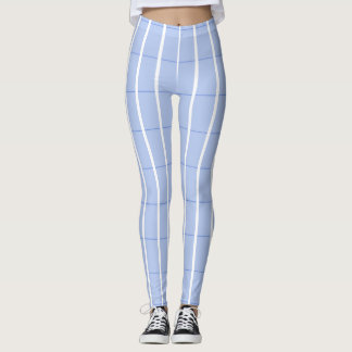 Fresh-Summer-Plaid's-Blue(c) -LEGGING'S_XS-XL Leggings