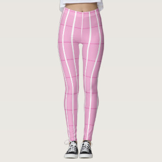 Fresh-Summer-Plaid's-Pink(c) -LEGGING'S_XS-XL Leggings