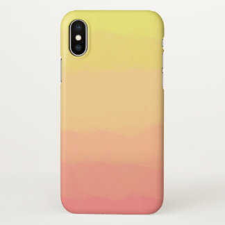 fresh summer sunset orange coral watercolors iPhone x case