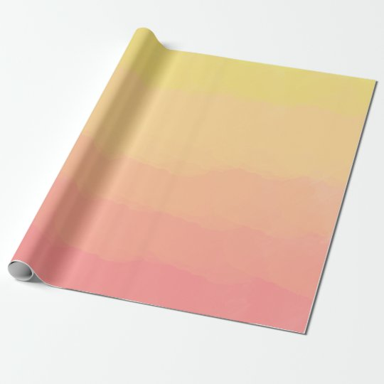 fresh summer sunset orange coral watercolors wrapping paper