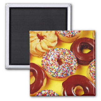 Fresh tasty donuts magnet