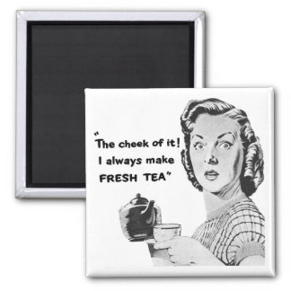 Fresh Tea Kitchen Magnet (Vintage Advertising)
