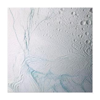 Fresh Tiger Stripes on Enceladus Canvas Print