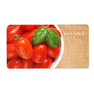 Fresh Tomatoes Kitchen Label